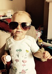 Angelic (KelJB) Tags: babywearingglasses costume glasses sunglasses funny beautiful cute brice family person human girl walking standing toddler babygirl baby