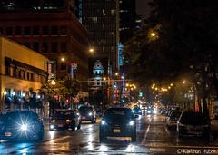 Chicago - Rainy Night, N Dearborn St (www.karltonhuberphotography.com) Tags: 2017 chicago citystreets downtown glare horizontalimage illinois karltonhuber neonsign nightphotography onewaystreet raining rainynight storefronts streetlights streetphotography streetscene traffic urban vehicles wetstreet