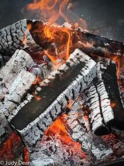 Flamin' Friday! (judy dean) Tags: judydean 2017 daylesford firepit flames logs warm