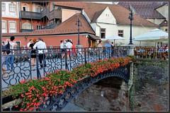 Sibiu ,the small square when twilight is coming (T.S.Photo (Teodor Sirbu)) Tags: sibiu romania square small twilight hermannstadt iron bridge liersbridge podulmincinoșilor city town stadt citta cite architecture