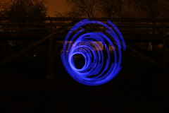 IMG_5559 (AndyMc87) Tags: gustavsburg langzeitbelichtung longtimeexposure longtime lightstreams lighttrails lightpainting painting colourful circle bridge night silhouette trees spiral canon eos 6d 2470 l lighttunnel tunnel