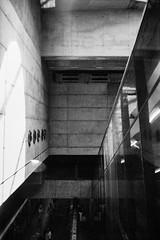 go down (flyerkat_L.E.) Tags: vienna city praterstern metro film analog superpan200 nikon fm2 monochrome black white bw 35mm