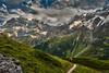 Twilight time on the Jungfrau mountain and the Rottal. Canton of Bern Switzerland.2017:08:23 16:11:01 .Izakigur  No. 7451. (Izakigur) Tags: switzerland svizzera lasuisse lepetitprince helvetia liberty izakigur flickr feel europe europa dieschweiz ch musictomyeyes nikkor nikon suiza suisse suisia schweiz suizo swiss سويسرا laventuresuisse myswitzerland landscape alps alpes alpen schwyz suïssa d700 nikond700 nikkor2470f28 berneroberland kantonbern bern berna izakigiur twilighttime twilight