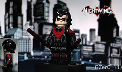 Nightwing Update (GZer0_11) Tags: lego custom nightwing batman decal purist dick richard grayson surfer arms sith soldier legs cole hair new 52