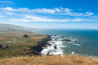 View from the Kortum Trail on the Sonoma Coast