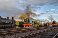 Midland autumn evening (Nimbus20) Tags: midlands midland lms railway duchess steam engine jinty 8f jubilee black5 evening light goldenhour tle train barrowhill chesterfield