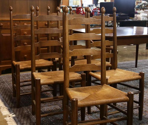 Six Clore Ladder Back Dining Chairs ($672.00)