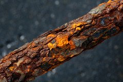 rusty nail (HansHolt) Tags: rust roest rusty roestig nail spijker spike crampon metal metaal texture abstract macro canon 6d 100mm canoneos6d canonef100mmf28macrousm macromondays hmm