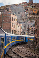 Winding out of Puno. (yeahwotever) Tags: cusco peru puno train