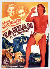 Tarzan and His Mate (1934, USA) - 07 (kocojim) Tags: publishing illustrated kocojim poster johnnyweissmuller maureenosullivan film advertising illustration motionpicture movieposter movie