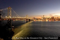 Robbery Problems around the SF Bay Area (miltonsun) Tags: sanfrancisco robbedofcameragear bayarea photojournalists treasureisland yerbabuenaisland cityscape bridge sfskyline baybridge dusk seascape outdoor