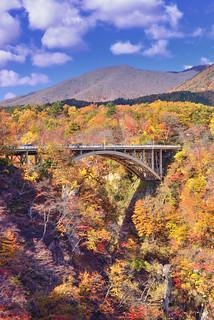 鳴子峽 Narugo gorge,大深沢橋,奧の細道,大崎市, 宫城县, Japan
