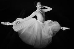 Floating (jorgedcar) Tags: tatevikmkrtoumiamphotoshoothuishavenanrwerpen bw floating ballet dance indoors woman she