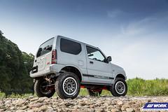 OUTCLASS Suzuki Jimny on WORK Crag T-Grabic (WORK Wheels Japan) Tags: outclass suzuki jimny crag tgrabic
