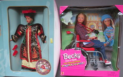 3. Flea Market Finds - $5 each (Foxy Belle) Tags: flea market finds used old toys second hand doll barbie 1990s chinese wheelchair becky