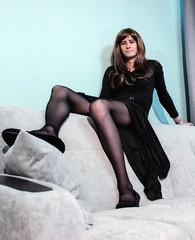 Christina Naye's Dark Gray Velvet Dress (Christina Naye) Tags: christinanaye tgirl trap trans femboi femboy crossdressing crossdresser panties tease tgurl gurl