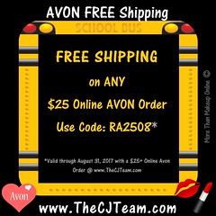 August Free Shipping with AVON (cjteamonline) Tags: augustfreeshipping avon avonaugustfreeshipping avoncouponcodes cjteam couponcodes finalday freeavon freeshipping freebiefriday goingfast julyfreeshipping lastday limitedquantities limitedtime onedayonly onetimeuse onlinepromotion orderavononline ordertoday promotion ra2508 sale thecjteam today whilesupplieslast