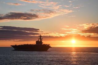 USS George H. W. Bush transits the Atlantic Ocean.