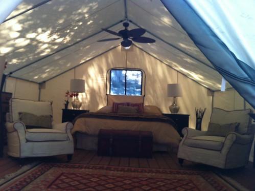 canvas wall tent fan