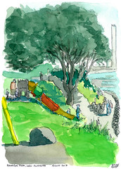 2017-08 Kawaroa Park (gnyp) Tags: kawaroa park new plymouth taranaki gnyp sketch watercolour drawing art