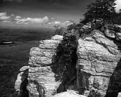 The Rock (Chris Ehrlich Photography) Tags: cdephotographymountains landscape nature rock sky clouds bw nikon hanging nc
