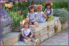 Kindergartenkinder ... (Kindergartenkinder) Tags: sommer sanrike blumen personen grugapark essen kindergartenkinder garten blume park annette himstedt dolls kindra setina milina leleti reki