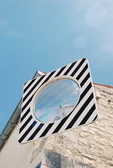 Souvenir. (Fiona de Basquiat.) Tags: argentique analog analogue analogphotography analogfilm analogroll analogcamera canonae1 ishootfilm istillshotfilm istillshootfilm 35mm 35mmfilm 35mmphotography 35mmphotogpraphy filmroll filmphotography filmisnotdead filmfeed filmcommunity sky larochelle mirror france
