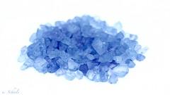 "High Key ""Blue bath salt"" (Ute Scheele) Tags: makro macro macromondays mm nahaufnahme object canon closeshot canoneos80d closeup eos80d eos whitebackground hmm indoor digital tamron schärfentiefe blue"