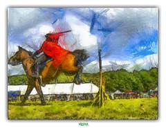 COME THE HORSEMEN (régisa) Tags: herstmonceux england angleterre horseman cavalier cheval horse jump saut tonywakeford solinvictus sussex eastsussex medieval festival castle
