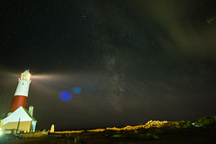 Milky Way at Portland Bill (ellyrussellphotography) Tags: milkyway portlandbill lighthouse nightsky stars clouds cloud perseids meteor