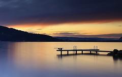 Le ponton (paul.porral) Tags: waterscape lake long exposure sunset canon 7d landscape ciel eau paysage sunrise reflection blue hour flickr