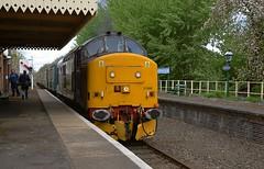 37688 on a photo stop at Hardingham. Mid Norfolk Railway Spring Diesel Gala. 01 05 2017 (pnb511) Tags: mnr midnorfolkrailway train engine loco locomotive diesel semaphore rail railway signal station class37