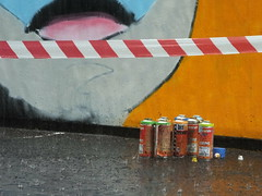 Cheltenham Paint Festival 2017 (DJLeekee) Tags: cheltenhampaint festival mydogsighs idiom stencils collece campus graffiti streetart eyes giant colours ran storms weather