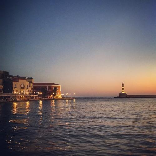 Old Venetian Harbor, Chania, Crete Greece 5:56 a.m. 7/20/17