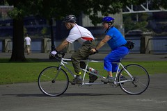 Tandem (swong95765) Tags: bicycle tandem two guy gal ride biking park recreation