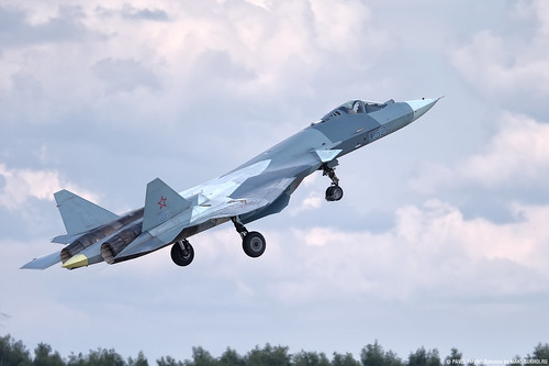 T-50 PAK-FA (T-50-2), the prototype of the fifth generation fighter, Su-57