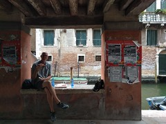 Pizza along the canal - Venice, Italy (ashabot) Tags: