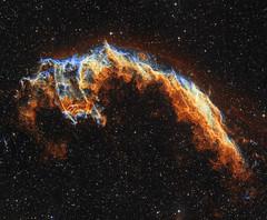 The Eastern Veil nebula in narrowband (Rick-Stevenson) Tags: astrophotography nebula narrowband astrometrydotnet:id=nova2202699 astrometrydotnet:status=solved