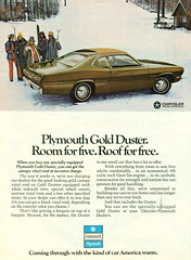 1972 Plymouth Gold Duster (coconv) Tags: car cars vintage auto automobile vehicles vehicle autos photo photos photograph photographs automobiles antique picture pictures image images collectible old collectors classic ads ad advertisement postcard post card postcards advertising cards magazine flyer prestige brochure dealer 1972 plymouth gold duster 72 coupe 2 door sedan hardtop mopar