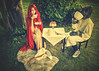 What If The Wolf And Red Riding-Hood Sat Down To Tea (LornaTaylor Is In India For 2 Months) Tags: taylorimagesca trees tea teaparty wolf red redridinghood cake teacups table chairs caitlin benjamin lornataylor lornataylorphotography copyright2017lornataylor fantasy fairytales fantasyshoot forest axe basket conceptual fairytale texture perfecteffects on1 portrait itisstrictlyforbiddenbylawtouseanyofmyimagesortextforprintingblogssaleorwebsiteswithoutmypermission