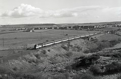 43059 seen passing Belmont Co Durham on 13-3-89. I Cuthbertson collection (I C railway photo's) Tags: class43 43059 tram hst125 intercity belmont