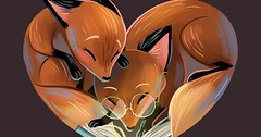 Cheesy late Valentine's Day scribble (hellfireassault) Tags: foxes cheesy late valentine's day scribble thed4rkestrose august 16 2017 0241pm 17 0600am