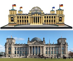 Lego Reichstag (BenBuildsLego) Tags: lego reichstag germany german neoclassical parliament bundestag columns architecture dome glass