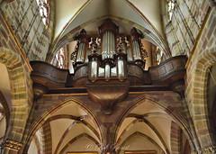 Architecture (Abbatiale St Pierre et Paul) (Bob_Reinert) Tags: voutes architecture church abbatiale eglise nikon orgue