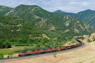 Utah Railway Kohleleerzug am Soldier Summit