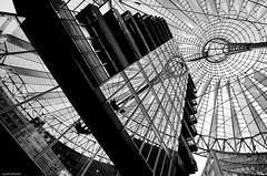 Architectural reflections (++sepp++) Tags: berlin sonycenter deutschland germany architektur architecture bw blackwhite monochrom sw schwarzweis einfarbig reflection spiegelung mirroring