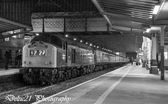 20170817-IMG_4246-Edit-Edit (deltic21) Tags: 40145 d345 preservation preserved preston prestonstation monochrome northwest night canon classic bucket whistler forty wcml wcrc rail railway railways railtour train tour ee english electric englishelectric engine 16csvt lancashire lancs cfps class40