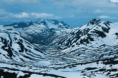 """Cold Fire"" - Jotunheimen Mountains - Norway (TLMELO) Tags: montanha mountain mountaineer mount noruega norway norwegian keepwalking justdoit walking neve snow impossibleisnothing girl woman"