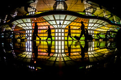 Splendid Isolation (Thomas Hawk) Tags: america chitown chicago cookcounty illinois michaelhayden ohareinternationalairport skysthelimit usa unitedstates unitedstatesofamerica windycity airport neon silhouette us fav10 fav25 fav50 fav100