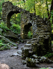 Stairway through the forest (trochford) Tags: stairway staircase stone abandoned ruin ascent forest woodland color colorful nature vegetation madamesherricastle madamesherriforest chesterfieldnh chesterfieldnewhampshire nh newhampshire newengland usa canon ef24105mmf4lisusm outdoor ef24105